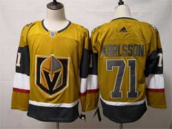 Mens Nhl Vegas Golden Knights #71 William Karlsson Gold Alternate Adidas Player Jersey