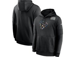 Mens Nfl Houston Texans Black Crucial Catch Sideline Performance Pocket Pullover Hoodie Nike Jersey