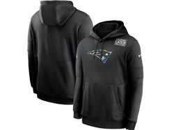 Mens Nfl New England Patriots Black Crucial Catch Sideline Performance Pocket Pullover Hoodie Nike Jersey