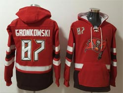 Mens Nfl Tampa Bay Buccaneers #87 Rob Gronkowski Red Pocket Pullover Hoodie Jersey
