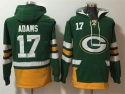Mens Nfl Green Bay Packers #17 Davante Adams Green Pocket Pullover Hoodie Jersey