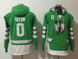 Mens Nba Boston Celtics #0 Jayson Tatum Green Pocket Pullover Hoodie Jersey