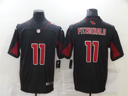 Mens Nfl Arizona Cardinals #11 Larry Fitzgerald Black Color Rush Vapor Untouchable Limited Nike Jersey