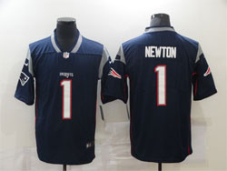 Mens Nfl New England Patriots #1 Cam Newton Blue Vapor Untouchable Limited Nike Jersey