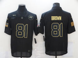 Mens Nfl Las Vegas Raiders #81 T.brown Black Nike 2020 Salute To Service Limited Jersey