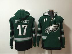 Mens Nfl Philadelphia Eagles #17 Alshon Jeffery Green Pocket Pullover Hoodie