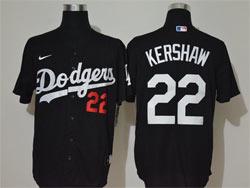 Mens Mlb Los Angeles Dodgers #22 Clayton Kershaw Black Cool Base Nike Jersey