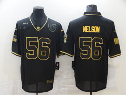 Mens Nfl Indianapolis Colts #56 Quenton Nelson Black Retro Golden 2020 Salute To Service Limited Jersey