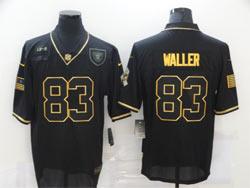 Mens Nfl Las Vegas Raiders #83 Darren Waller Black Retro Golden 2020 Salute To Service Limited Jersey