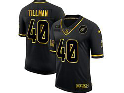 Mens Nfl Arizona Cardinals #40 Pat Tillman Black Retro Golden 2020 Salute To Service Limited Jersey
