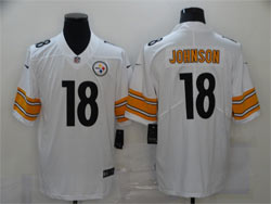 Mens Nfl Pittsburgh Steelers #18 Diontae Johnson White Vapor Untouchable Limited Nike Jersey