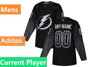 Mens Nhl Tampa Bay Lightning Current Player Black Alternate Adidas Jersey