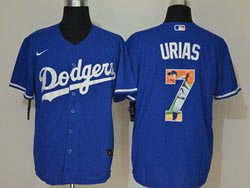 Mens Mlb Los Angeles Dodgers #7 Julio Urias Blue Wonderful Moment Cool Base Nike Jersey