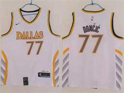 Mens Nba Dallas Mavericks #77 Luka Doncic Black 2020-21 City Edition Nike Jersey