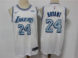 Mens Nba Los Angeles Lakers #24 Kobe Bryant White 2020-21 City Edition Nike Swingman Jersey