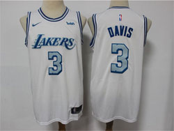 Mens Nba Los Angeles Lakers #3 Anthony Davis White 2020-21 City Edition Nike Swingman Jersey