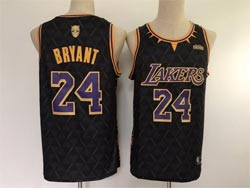 Mens Nba Los Angeles Lakers X Black Panther #24 Kobe Bryant Black Limiter Jersey