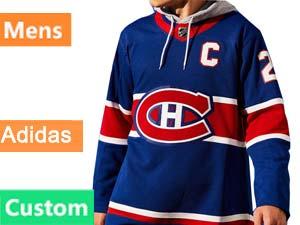 Mens Montreal Canadiens Custom Made Blue Reverse Retro 2020-21 Adidas Jersey