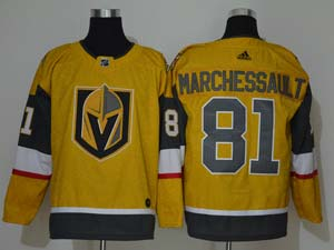Mens Nhl Vegas Golden Knights #81 Jonathan Marchessault Gold Alternate Adidas Player Jersey