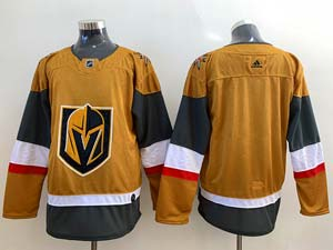 Mens Nhl Vegas Golden Knights Blank Gold Alternate Adidas Player Jersey