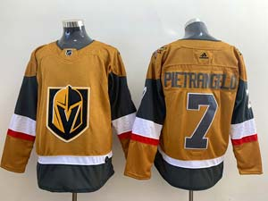 Mens Nhl Vegas Golden Knights #7 Alex Pietrangelo Gold Alternate Adidas Player Jersey