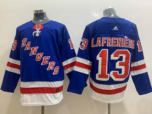 Mens Nhl New York Rangers #13 Alexis Lafrenière Blue Adidas Jersey