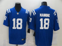 Mens Nfl Indianapolis Colts #18 Peyton Manning Blue Vapor Untouchable Limited Nike Jersey
