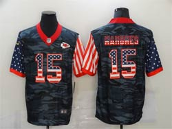 Mens Nfl Kansas City Chiefs #15 Patrick Mahomes 2020 Camo Usa Flag Salute To Service Limited Nike Jersey