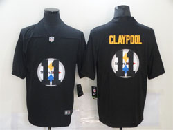 Mens Nfl Pittsburgh Steelers #11 Chase Claypool Black Shadow Logo Vapor Untouchable Limited Nike Jersey