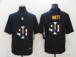Mens Nfl Pittsburgh Steelers #90 T. J. Watt Black Shadow Logo Vapor Untouchable Limited Nike Jersey