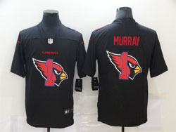Mens Nfl Arizona Cardinals #1 Kyler Murray Black Shadow Logo Vapor Untouchable Limited Nike Jersey
