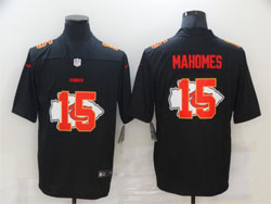 Mens Nfl Kansas City Chiefs #15 Patrick Mahomes Black Shadow Logo Vapor Untouchable Limited Nike Jersey