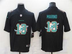 Mens Miami Dolphins #13 Dan Marino Black Shadow Logo Vapor Untouchable Limited Nike Jersey