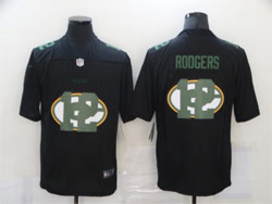 Mens Nfl Green Bay Packers #12 Aaron Rodgers Black Shadow Logo Vapor Untouchable Limited Nike Jersey