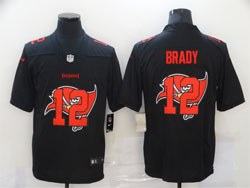 Mens New England Patriots #12 Tom Brady Black Shadow Logo Vapor Untouchable Limited Nike Jersey