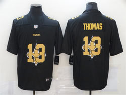 Mens Nfl New Orleans Saints #13 Michael Thomas Black Shadow Logo Vapor Untouchable Limited Nike Jersey
