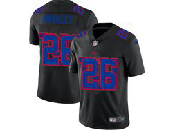 Mens Nfl New York Giants #26 Saquon Barkley Black Shadow Logo Vapor Untouchable Limited Nike Jersey