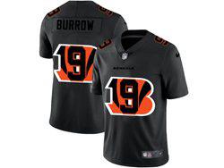 Mens Nfl Cincinnati Bengals #9 Joe Burrow Black Shadow Logo Vapor Untouchable Limited Nike Jersey