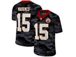 Mens Nfl Kansas City Chiefs #15 Patrick Mahomes 2020 Camo Vapor Untouchable Limited Nike Jersey