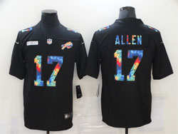 Mens Nfl Buffalo Bills #17 Josh Allen Black Rainbow Vapor Untouchable Limited Nike Jersey