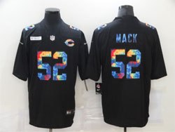 Mens Nfl Chicago Bears #52 Khalil Mack Black Rainbow Vapor Untouchable Limited Nike Jersey