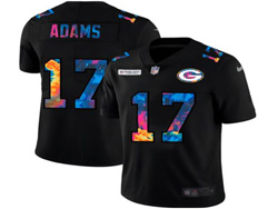 Mens Nfl Green Bay Packers #17 Davante Adams Black Rainbow Vapor Untouchable Limited Nike Jersey