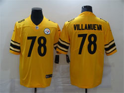 Mens Nfl Pittsburgh Steelers #78 Alejandro Villanueva Gold Nike Inverted Legend Vapor Untouchable Limited Jersey