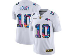 Mens Nfl Denver Broncos #10 Jerry Jeudy White Rainbow Vapor Untouchable Limited Nike Jersey