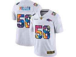 Mens Nfl Denver Broncos #58 Von Miller White Rainbow Vapor Untouchable Limited Nike Jersey