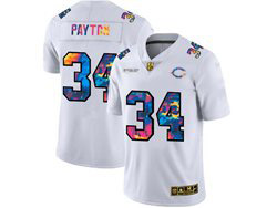 Mens Nfl Chicago Bears #34 Walter Payton White Rainbow Vapor Untouchable Limited Nike Jersey