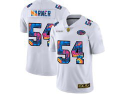 Mens Nfl San Francisco 49ers #54 Fred Warner White Rainbow Vapor Untouchable Limited Nike Jersey