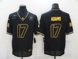 Mens Nfl Green Bay Packers #17 Davante Adams Black Retro Golden 2020 Salute To Service Limited Jersey