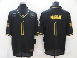 Mens Nfl Arizona Cardinals #1 Kyler Murray Black Retro Golden 2020 Salute To Service Limited Jersey