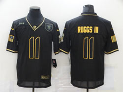 Mens Nfl Las Vegas Raiders #11 Henry Ruggs Iii Black Retro Golden 2020 Salute To Service Limited Jersey